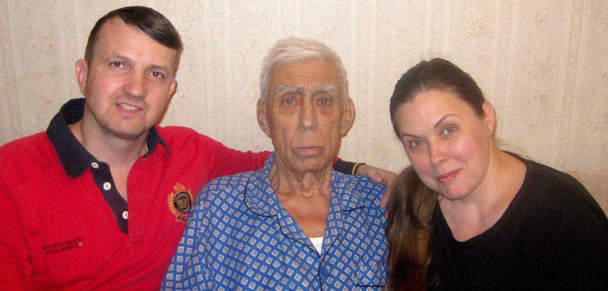 Мой папа крестился в Екатеринбурге в возрасте 81 года